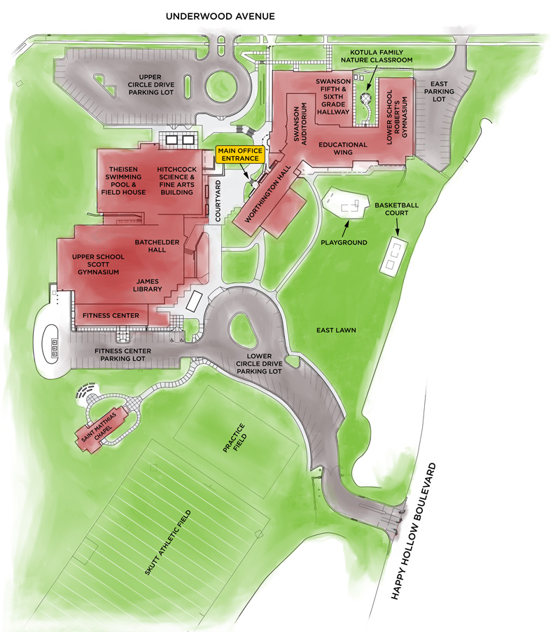 Brownell Talbot campus map